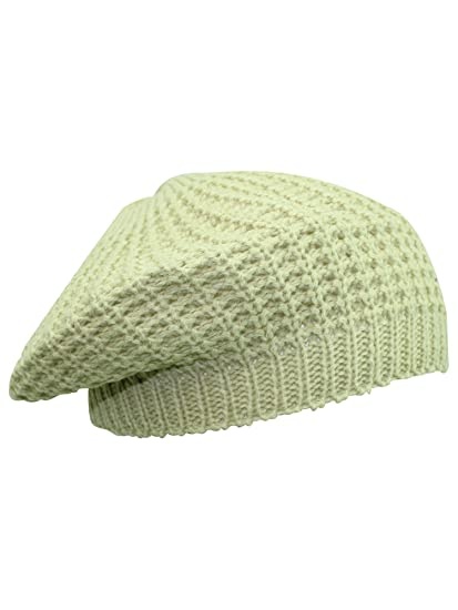 0a9ad984d1b9b Image Unavailable. Image not available for. Color  Luxury Divas Tan Thin  Slouchy Knit Tami Beret Hat