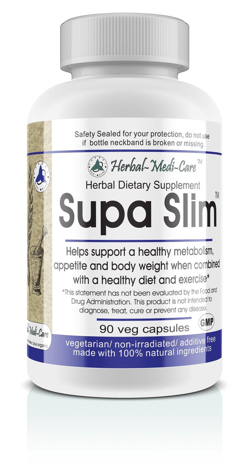 Herbal-Medi-Care Whole Food Supa Slim (Metabolism) Vegetarian Capsules; 90-Count