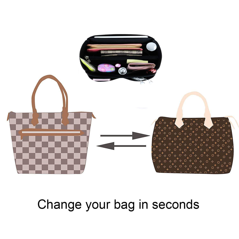 APSOONSELL Tote Handbag Inner Bag Organizer with Zipper Fits LV Artsy Graceful Neverfull Speedy Delightful