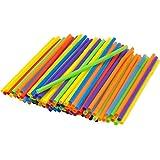 Kizmos 125 Count Assorted Flex Straws, Jumbo, Pack of 2
