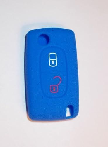 Funda de llave de silicona para Peugeot 207 307 308 407 2 botones