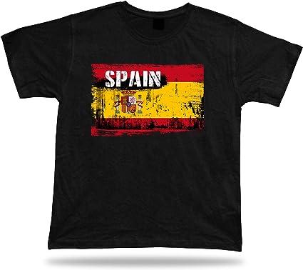 España Camiseta Bandera tee Recuerdo de Viaje tee Regalo Spain Flag Tshirt: Amazon.es: Ropa y accesorios