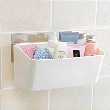 ORPIO (LABLE) Bathroom Kitchen Storage Organize Shelf Rack Bathroom Shelves Shower Corner Caddy Basket with Wall Mounted Suction Cup.