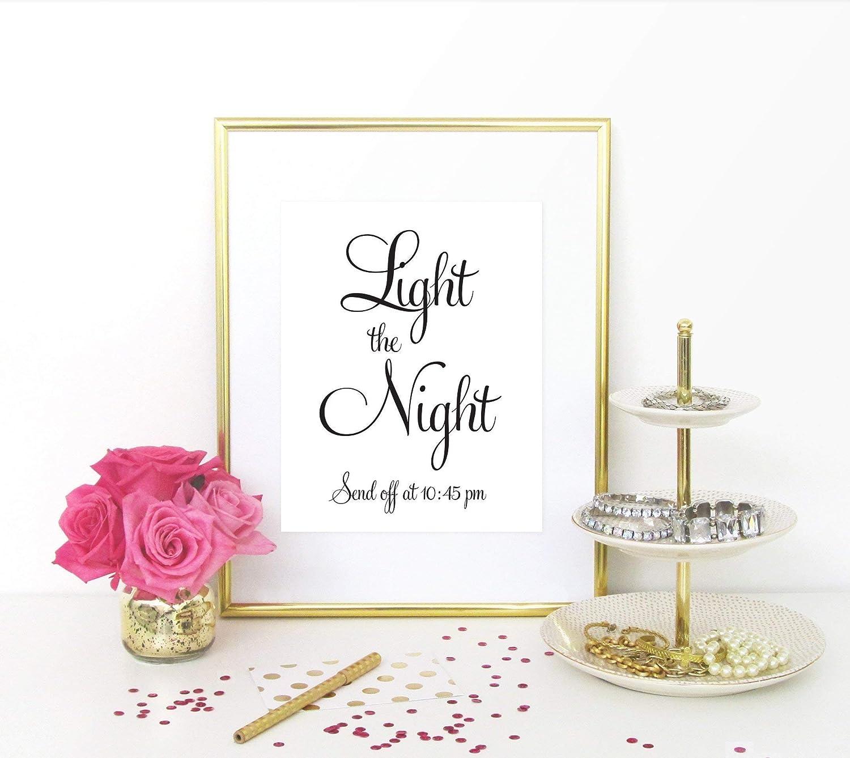Sparkler Send Off Sign UNFRAMED Wedding Send Off Sign Light the Night Send Off Sign Your Choice of Size Print Sign Personalized Wedding Sign