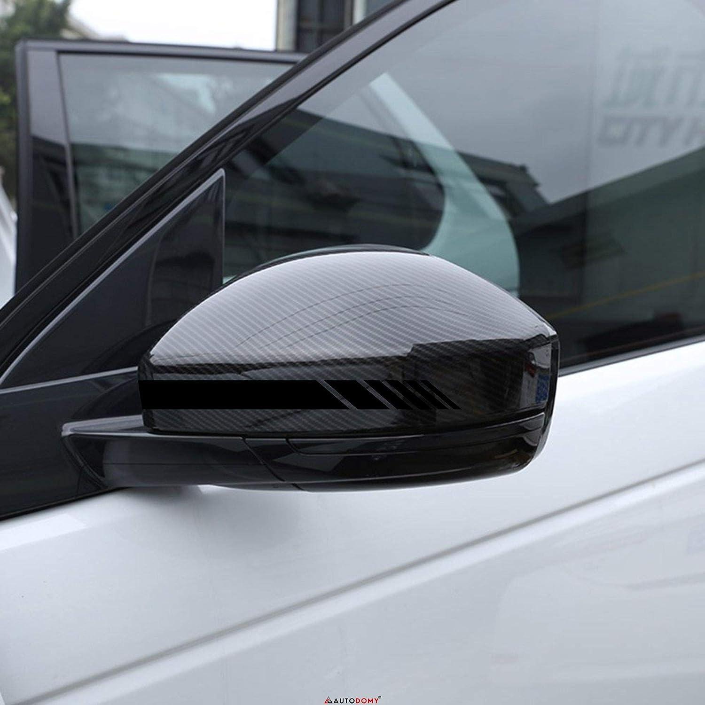 Autodomy Autocollants R/étroviseur de Voiture avec Rayures Design Stripes Pack de 6 unit/és de largeurs diff/érentes pour Voiture Rouge