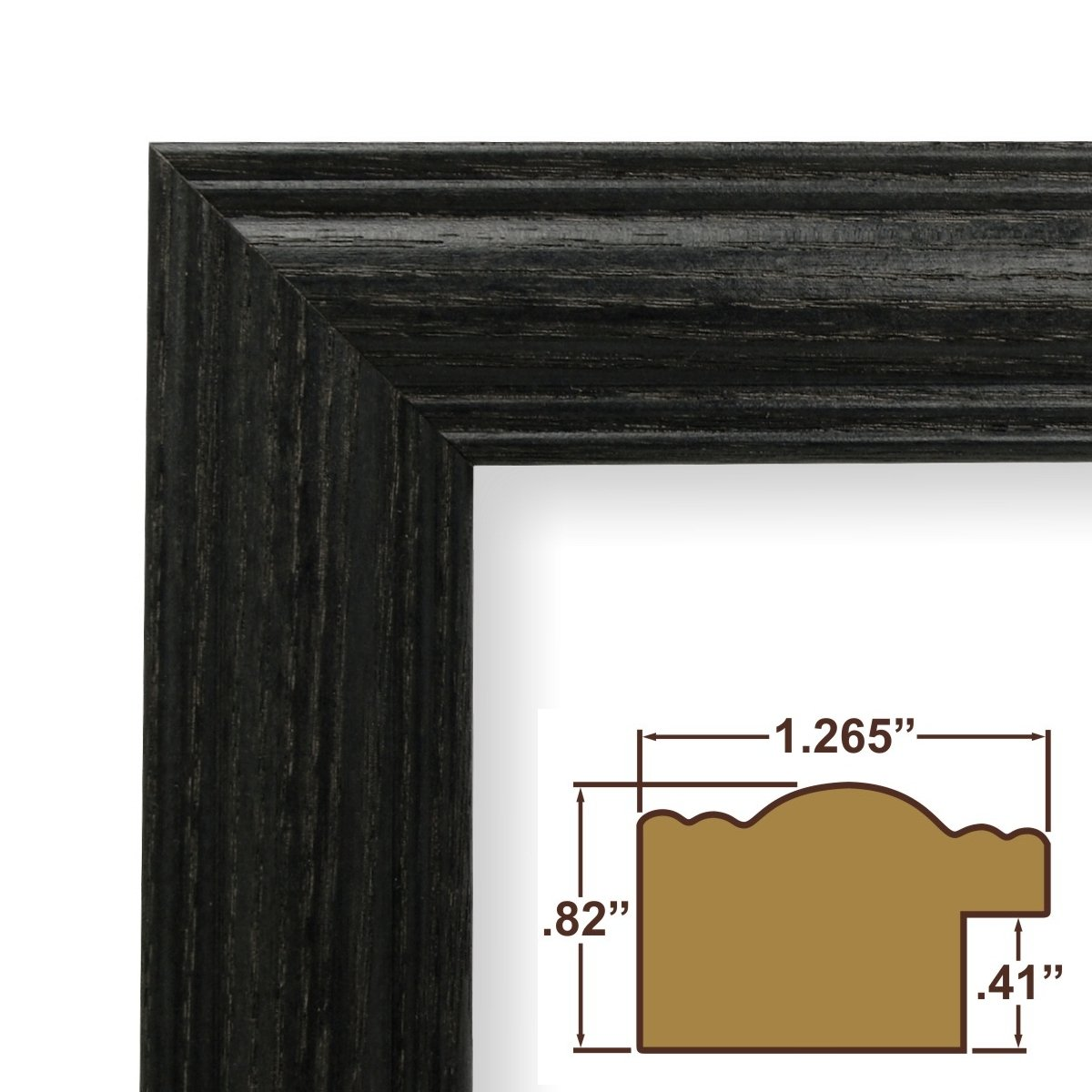 Amazon.com - 20x32 Picture / Poster Frame, Wood Grain Finish, 1.265 ...