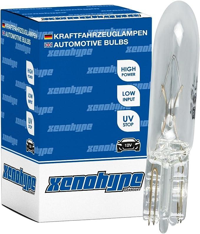 10x Xenohype Premium Glassockellampe T5 W2x4 6d 12v 1 2 Watt W1 2w Auto