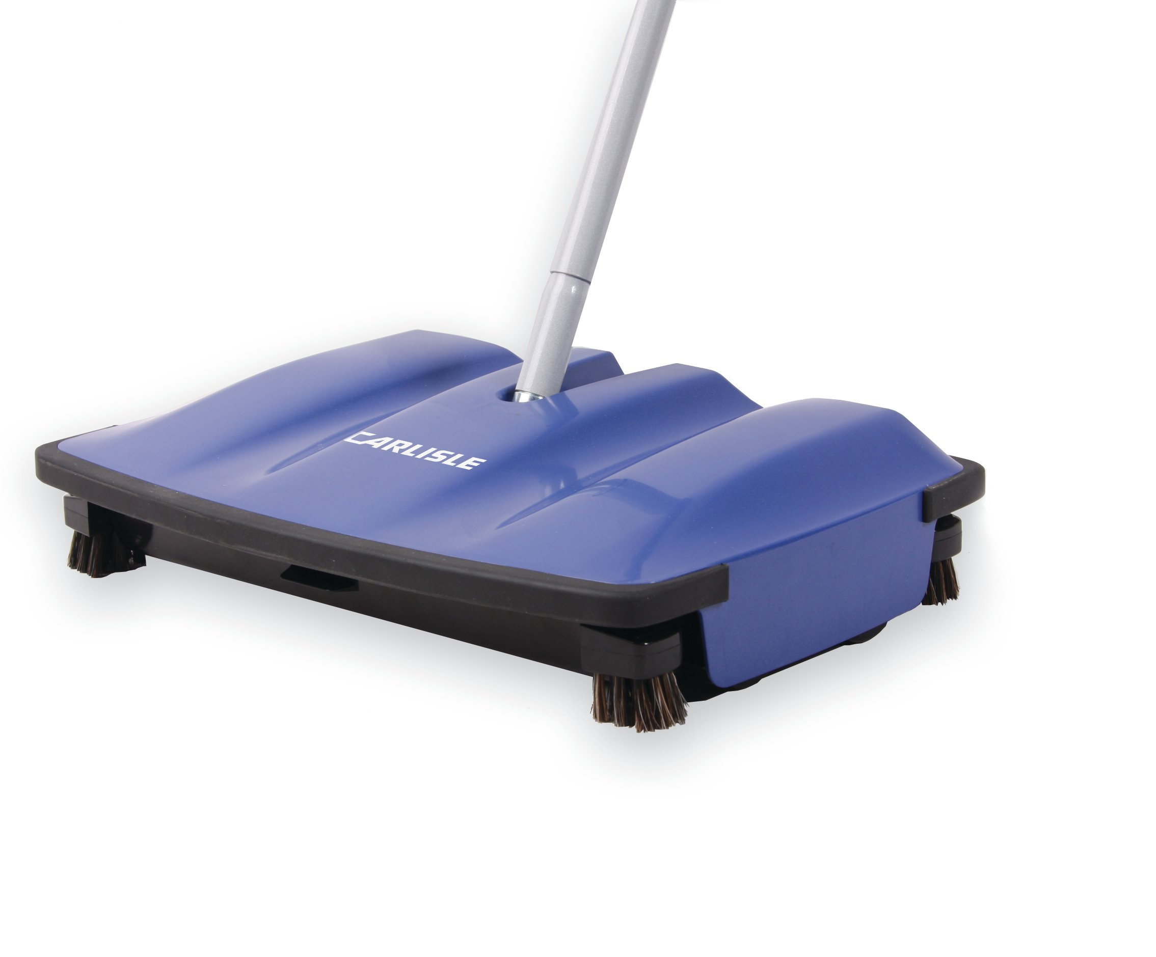 Carlisle 3640014 Duo-Sweeper ABS Multi-Surface Floor Sweeper, 1/2'' Length Brush, 8'' Length x 12'' Width x 2-1/2'' Height, Blue