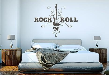 Camera Da Letto Rock : Adesivo da parete soggiorno camera da letto rockn roll rosa