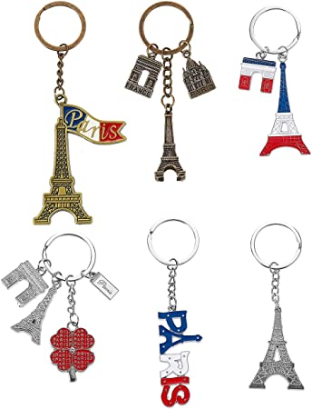 Eiffel Tower Keyring Key Chain Bronze Color Paris France Keyring Free Shipping