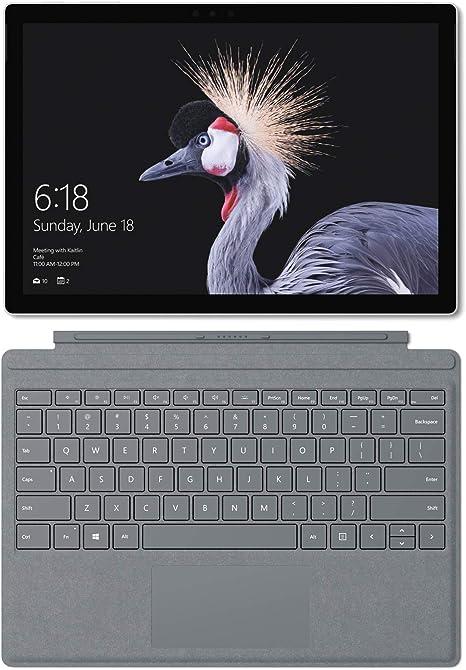 Microsoft Surface Pro - Ordenador portátil 2 en 1, 12.3 (Intel Core i5-7300U, 8GB RAM, 128GB SSD, Intel Graphics, Windows 10 Pro) Plata - Teclado ...