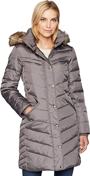 8163e2107 MICHAEL Michael Kors Womens Snap Front 3/4 Down with Hood M823172G