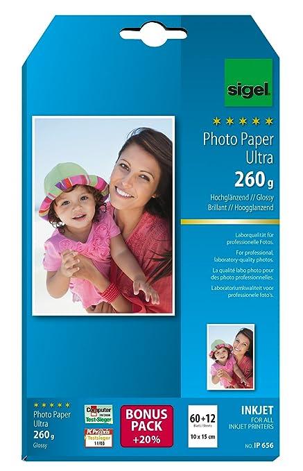 SIGEL IP656 Papel fotográfico profesional para impresoras InkJet ...