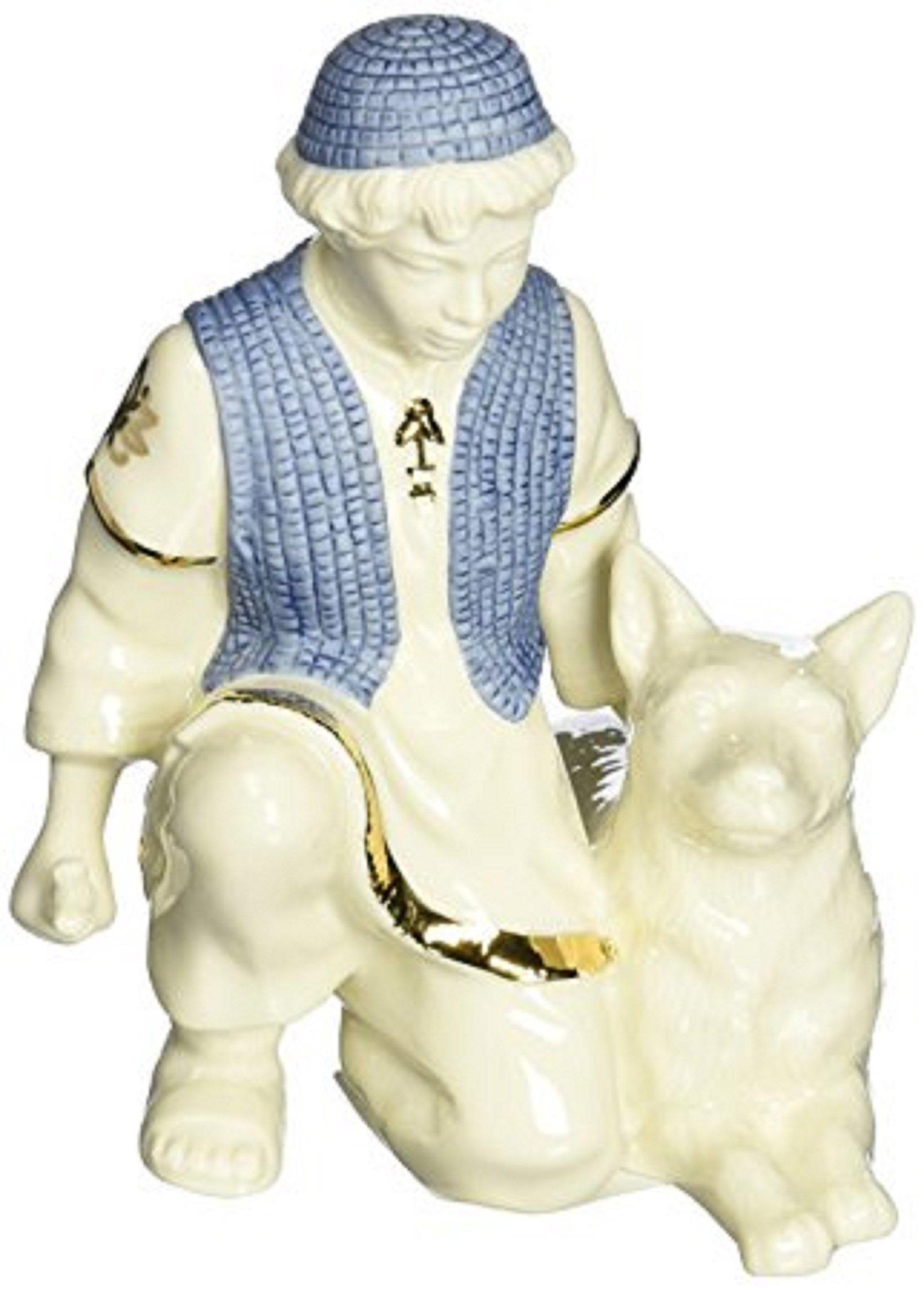 Lenox First Blessing Nativity Shepherd Boy Figurine Sheep Dog Porcelain