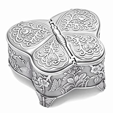 Amazon Com Perfect Jewelry T Pewter Tone Finish Large Butterfly