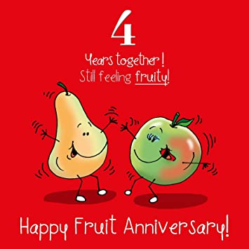 4th wedding anniversary greetings card fruit anniversary amazon 4th wedding anniversary greetings card fruit anniversary m4hsunfo