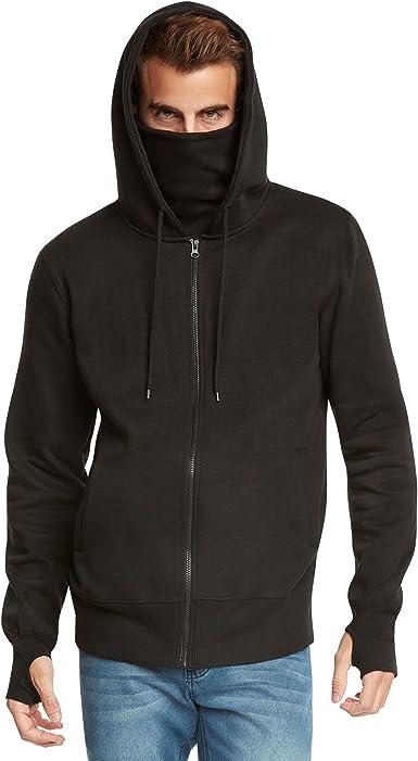 9 Crowns Mens Fleece Full-Zip Ninja Hoodie Essentials