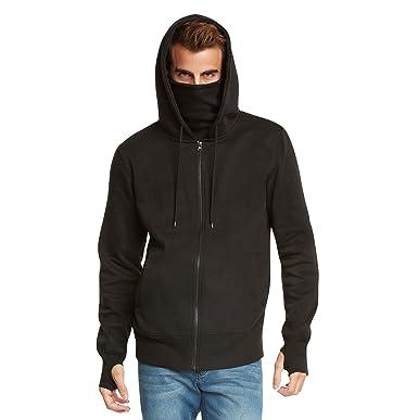 9 Crowns Men's Fleece Full Zip Ninja Hoodie Essentials