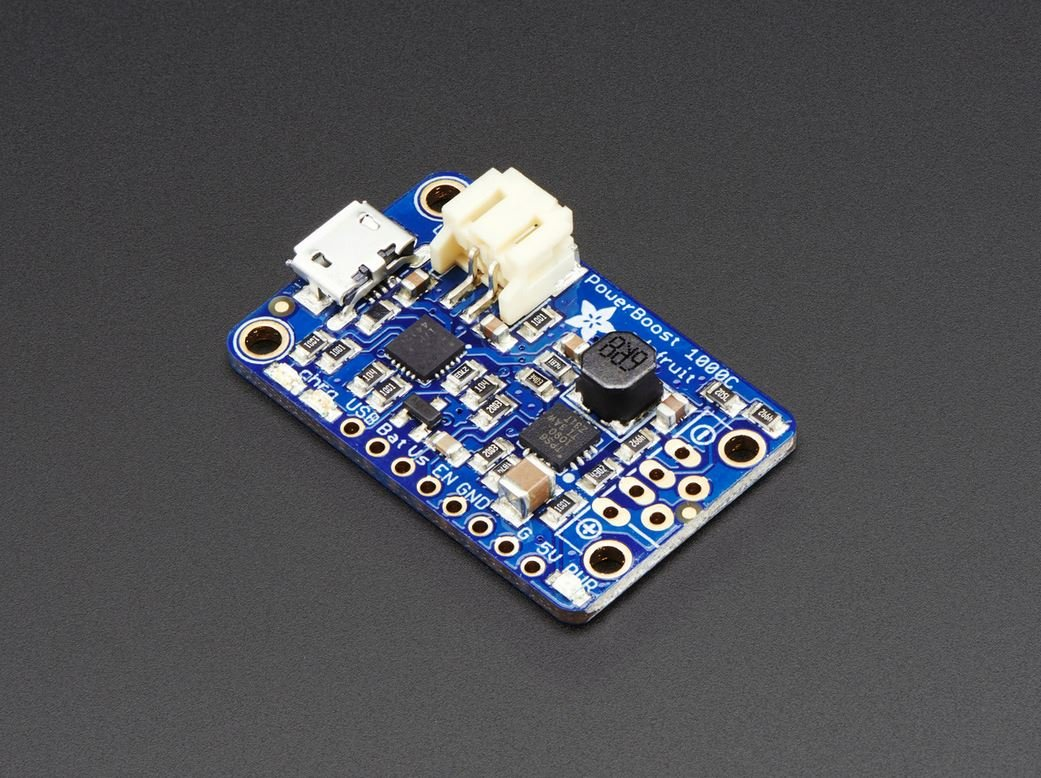 Adafruit PowerBoost 1000 Charger - Rechargeable 5V Lipo USB Boost @ 1A - 1000C [ADA2465]