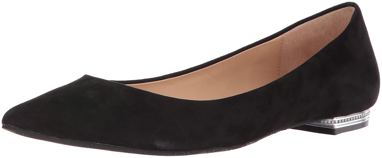 Black Badgley Mischka Womens Guardian Pointed Toe Flat