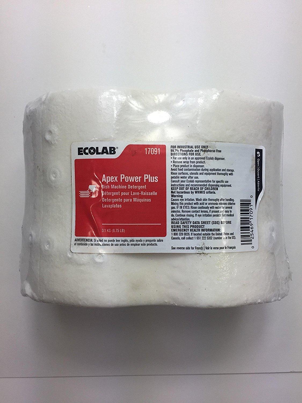 ECOLAB 17091 Apex Power Plus Dish Machine Detergent- 6.75 LB