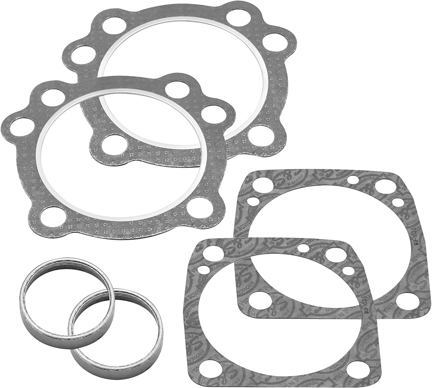 S/&S Cycle Head Installation Gasket Kit for Super Stock Cylinder Heads 4in Bore 90-1909