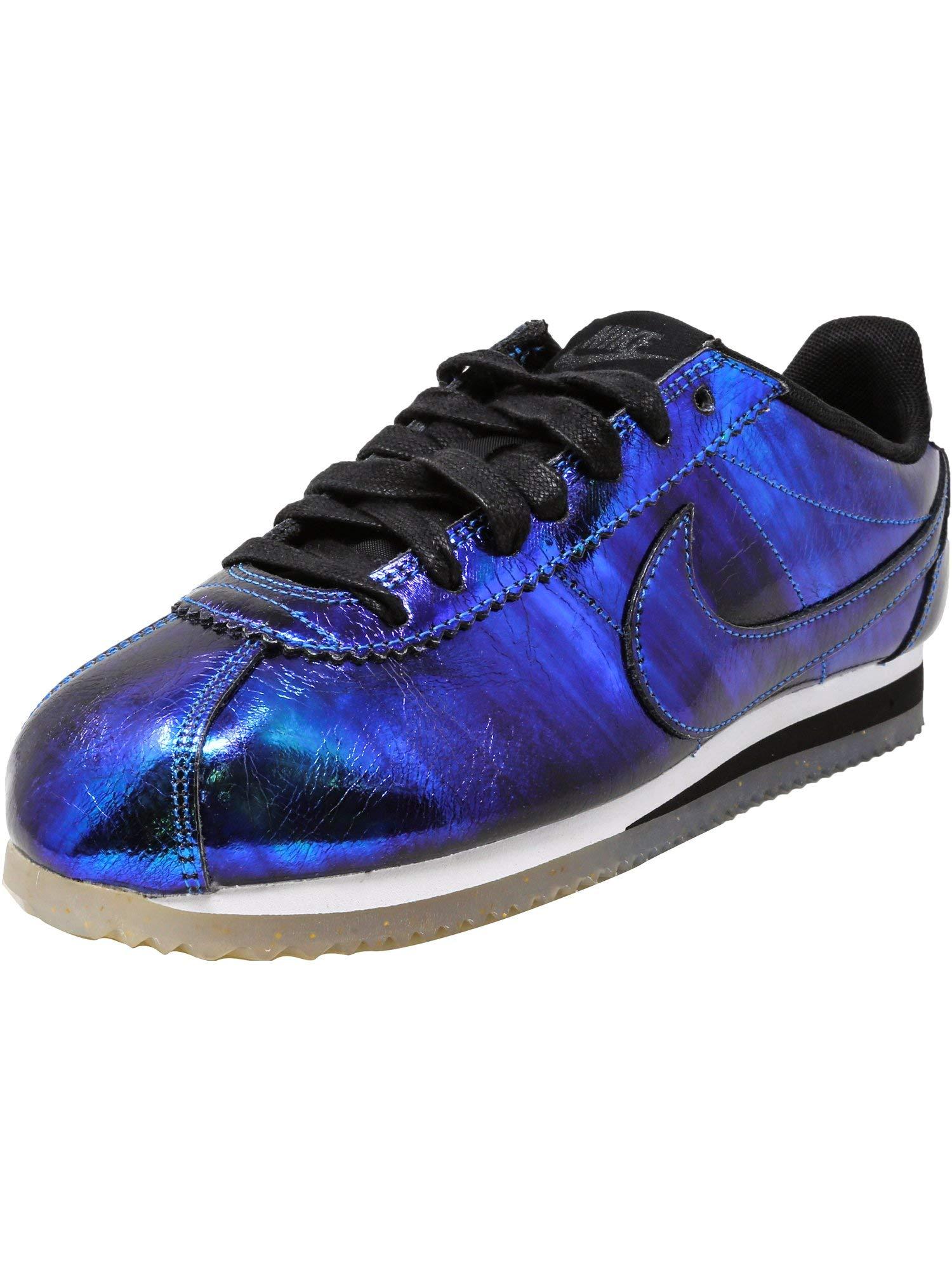 wholesale dealer 886ea d115c Galleon - Nike Women s Classic Cortez Leather Se Soar Soar-White-Black  Ankle-High Fashion Sneaker - 7.5M