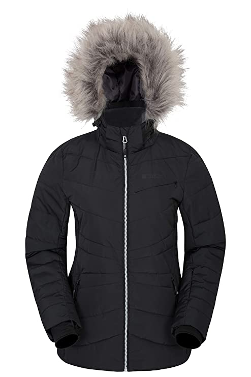 29138b7f4 Mountain Warehouse Arctic Air Womens Down Padded Winter Ski Jacket -  Snowproof, Waterproof, Breathable With Detachable Ski Skirt & 2 Front  Pockets - ...