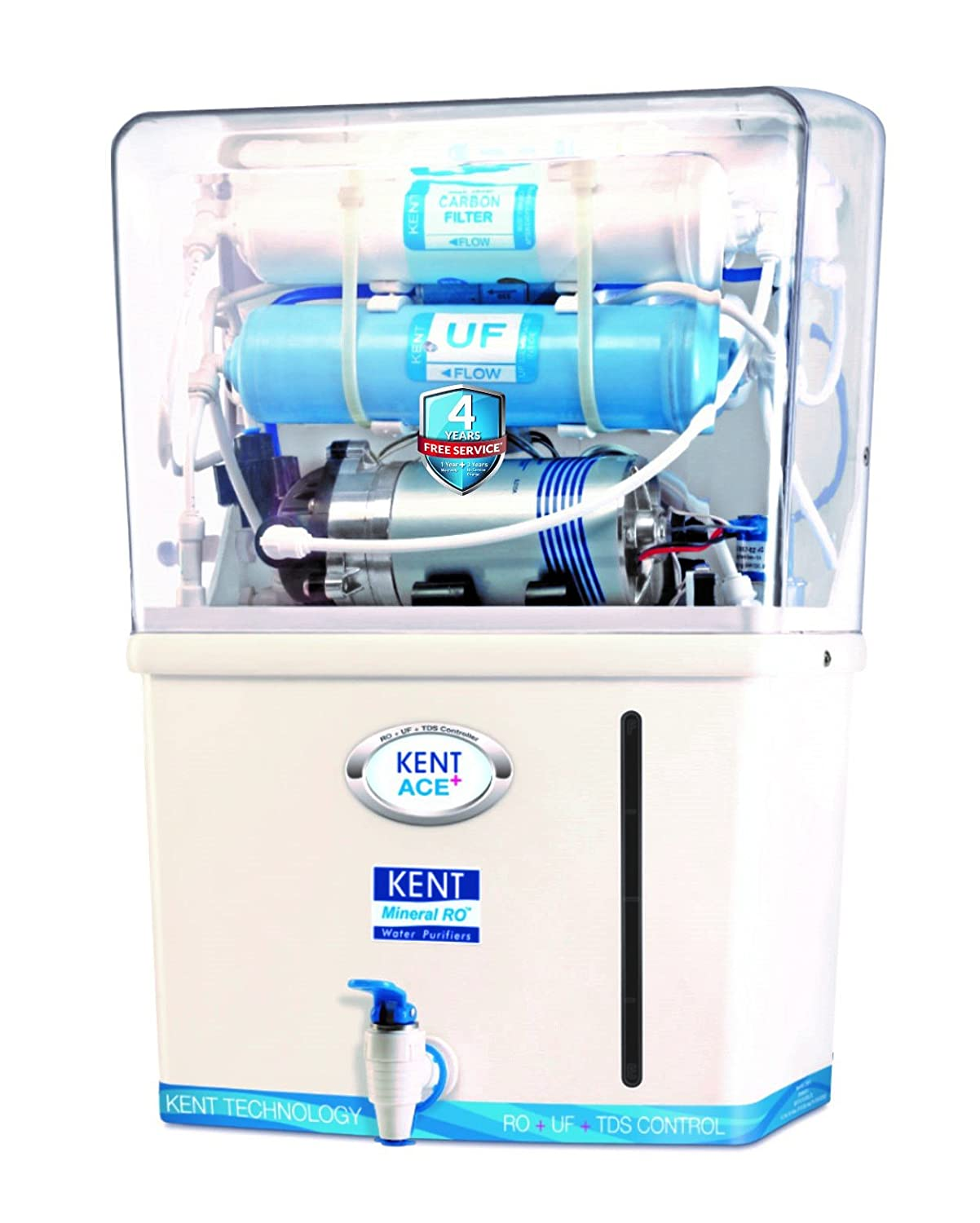 KENT Ace Plus 7-Litres Mineral RO Water Purifier (White/Blue ...