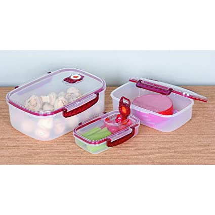 Amazon com - 3 Piece Vacuum Sealed Container Set with Date