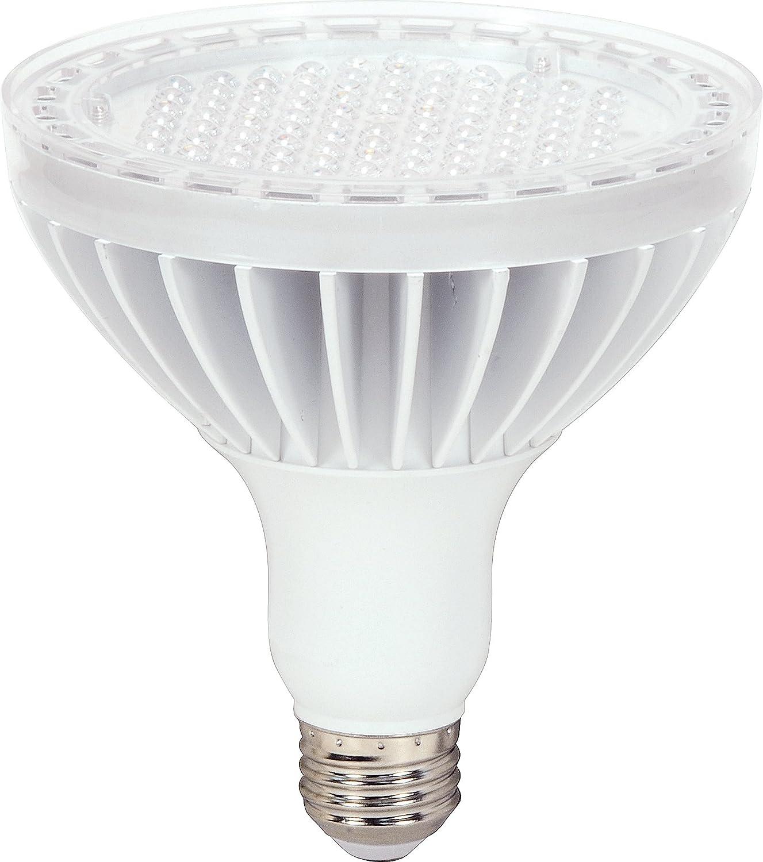 Delightful Satco S8985 17 Watt (90 Watt) 1160 Lumens PAR38 LED Neutral White 3500K 60  Beam KolourOne Light Bulb, Dimmable   Led Household Light Bulbs   Amazon.com