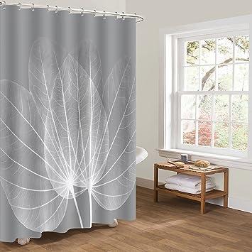 chenyu Rideau de douche 100% polyester imperméable salle de bain ...