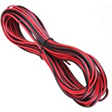 20 METERS 2 CORE BLACK RED 12V 12 VOLT EXTENSION CABLE AMP CAR AUTO VAN BOAT LED STRIP AUDIO SPEAKER WIRE