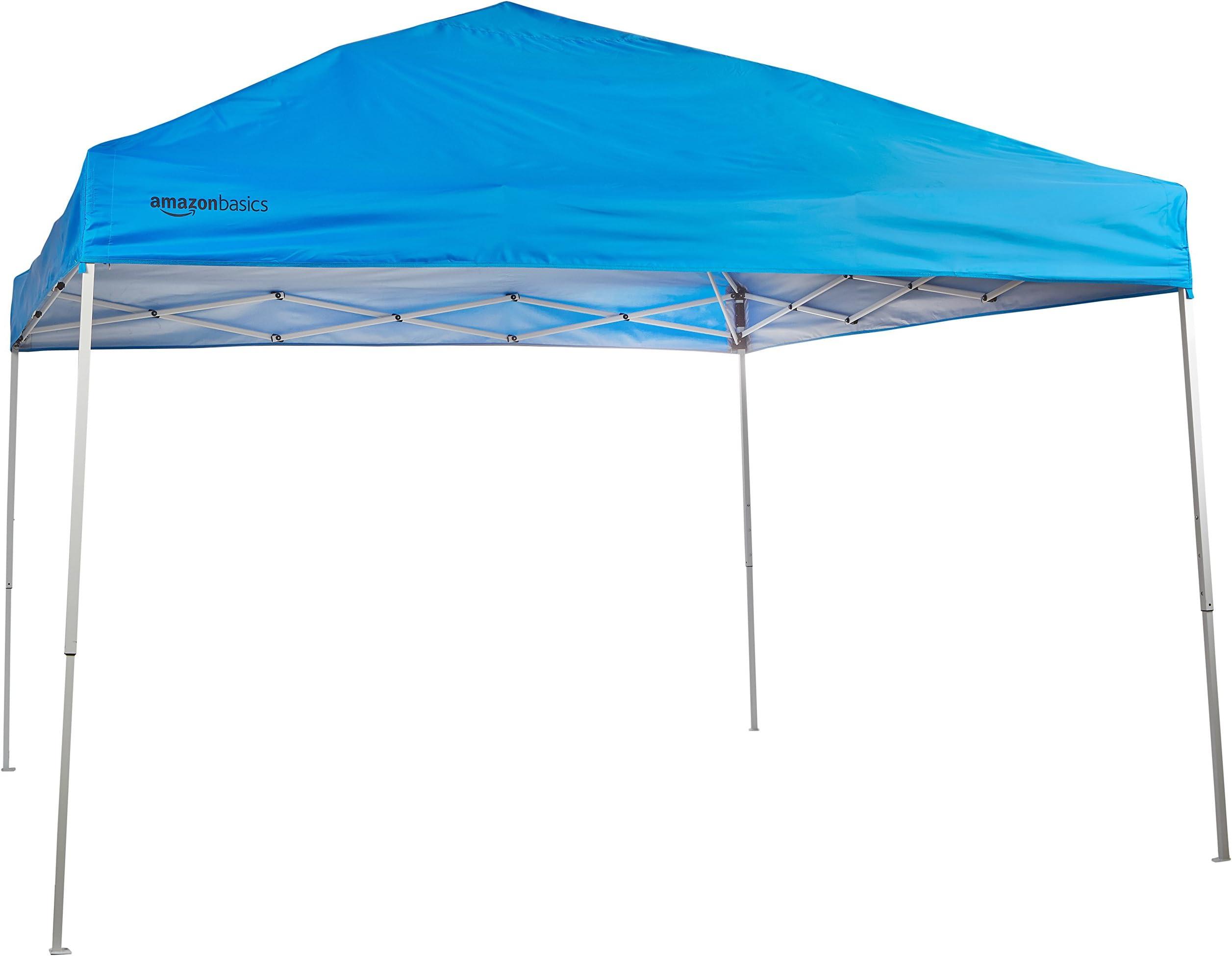 AmazonBasics Pop-Up Canopy Tent - 10u0027 x 10u0027 Blue  sc 1 st  Amazon.com & Amazon.com: Canopies - Canopies Gazebos u0026 Pergolas: Patio Lawn ...