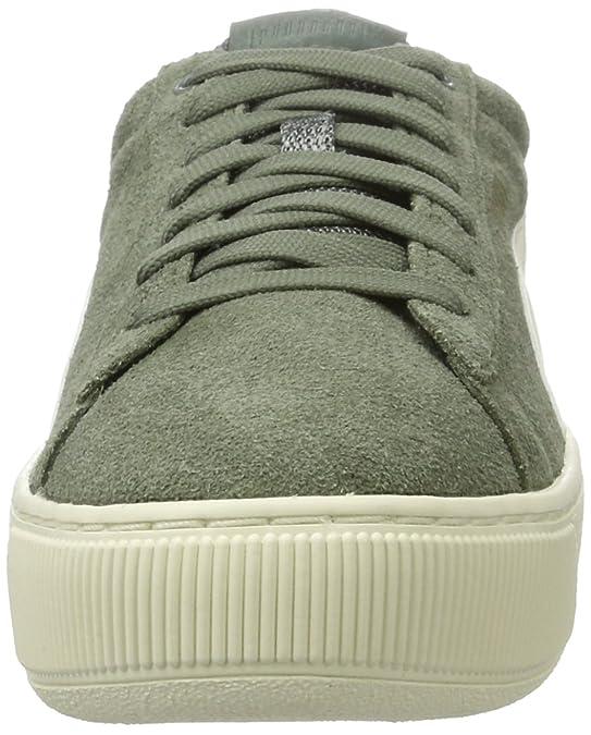 Puma Vikky Platform D, Sneakers Basses Femme, (Agave Green-Metallic Gold-Whisper White), 40 EU