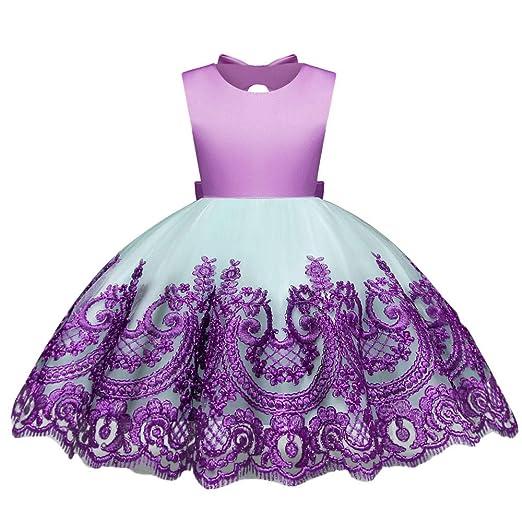 e138bbba5cd5 Amazon.com  Tutu Dresses Little Big Girls Puffy Sleeveless Bow Tie ...