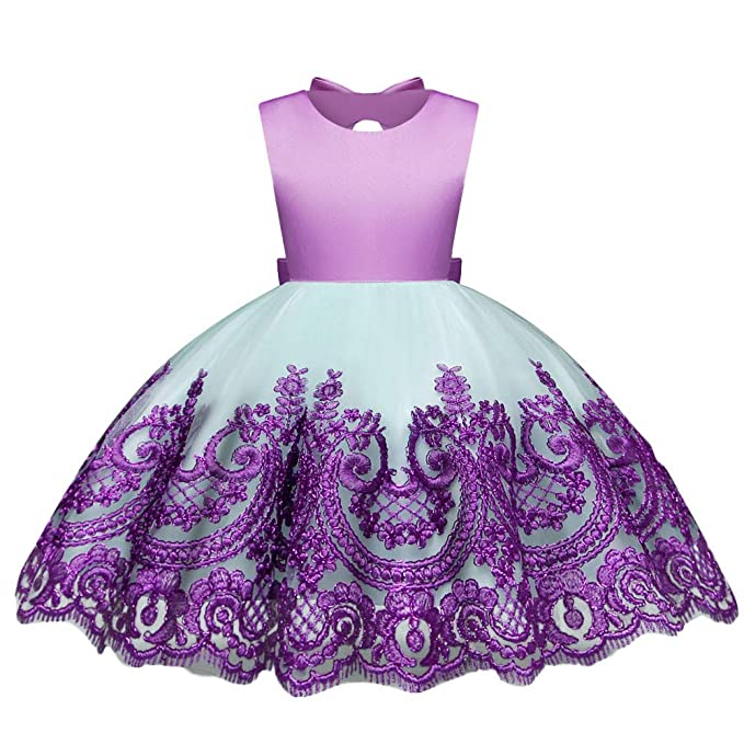 1683ace2cc2e Amazon.com  KONFA Toddler Baby Girl Floral Wedding Party Dress