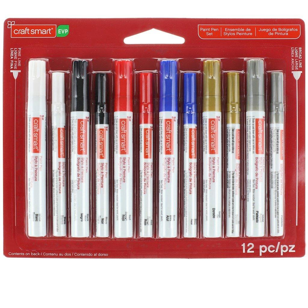 Craftsmart Fine Line Paint Pens 12 pack