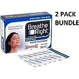 Breathe Right Nasal Strips Natural Regular 30 *2 PACKS*