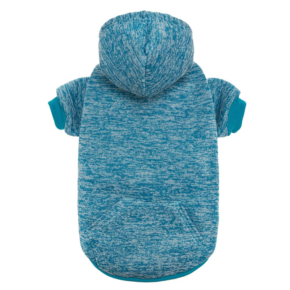 bluee S bluee S SCENEREAL Pet Dog Hoodies Knitwear Sweaters Winter Clothes with Hat and Pocket Windproof, bluee S