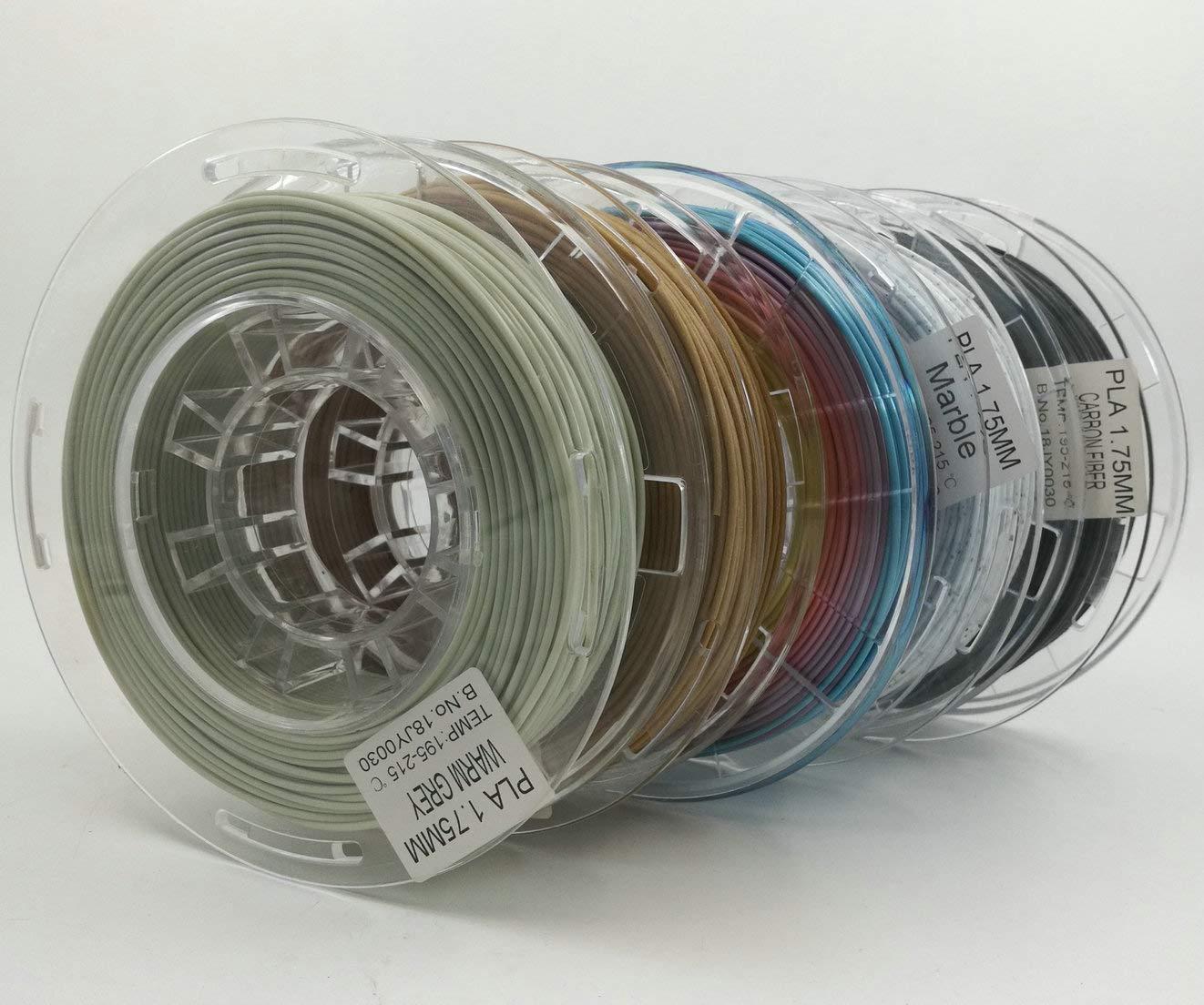 Stronghero3D 1,75 mm PLA 3D filamento de impresora arcoíris madera ...