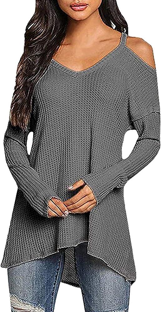 Camisa Larga De Mujer V Camisa De Corte De En Camisas Hombros Casuales Mujeres Manga Larga Camisas De Color Sólido Ocasionales Blusa Superior Verano Dunkelgrau, Size : S: Amazon.es: Ropa y accesorios