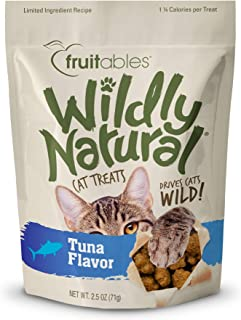 product image for Fruitables Wildly Natural Cat Treats, Tuna Flavor, 2.5 oz
