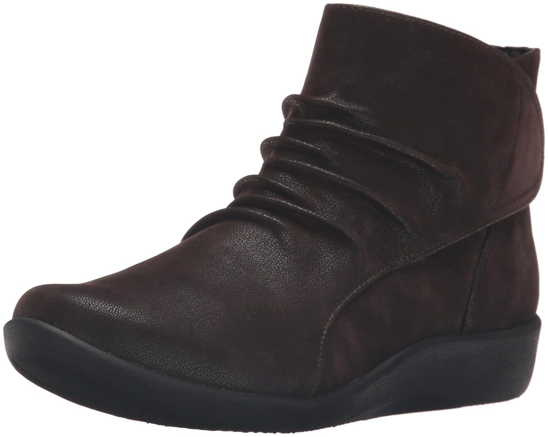 CLARKS Women's Sillian Chell Boot B019D8W386 8.5 B(M) US|Brown Synthetic Nubuck