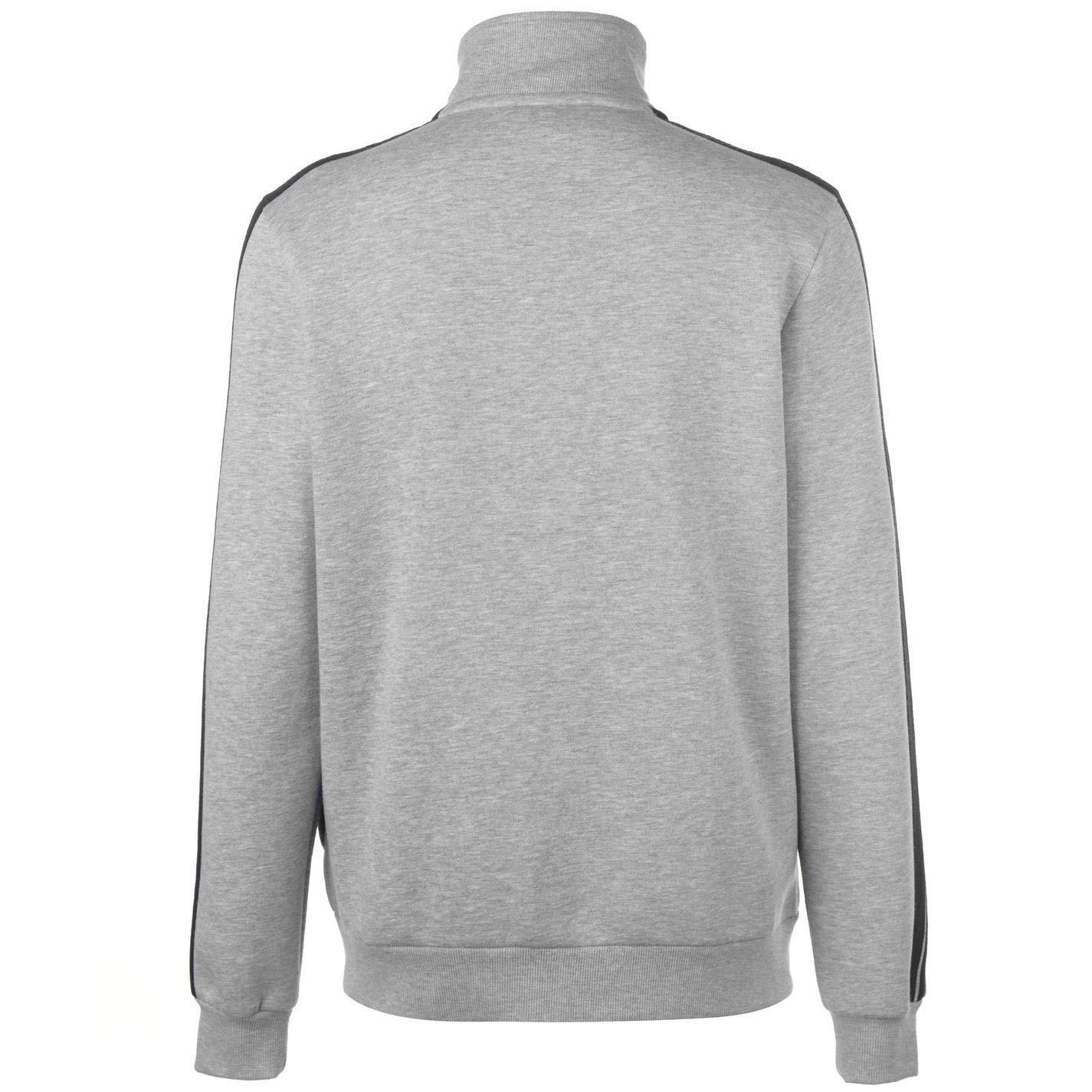 Lonsdale London 2 Stripe Full Zip Jacket Mens Grey Athleisure Sweatshirt Top