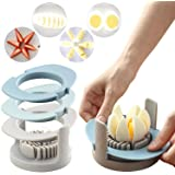 RMAI Eggs Slicer, 3 In 1 Multi-Function egg Cutter Fruit Slicers Convenient Slicer with Stainless Steel Cutting Wires Non-Sli