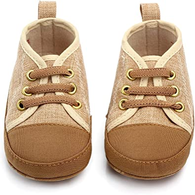 Newest Baby Shoes Soft Sole No-Slip Canvas Sneaker for 0-18 Months Blue Khaki