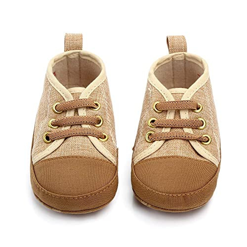 b5055897101fe Sufancy Baby Boys Girls Premium Soft Anti-Slip Sole High Top Sneaker  Newborn Infant First Walkers Canvas Denim Shoes 0-18 Months