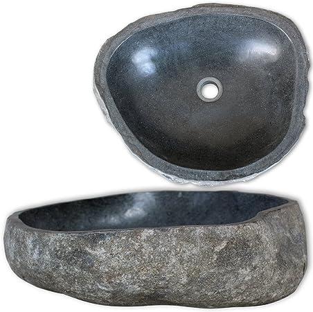 Daonanba Vasque ovale Pierre de rivière de salle de bain ...