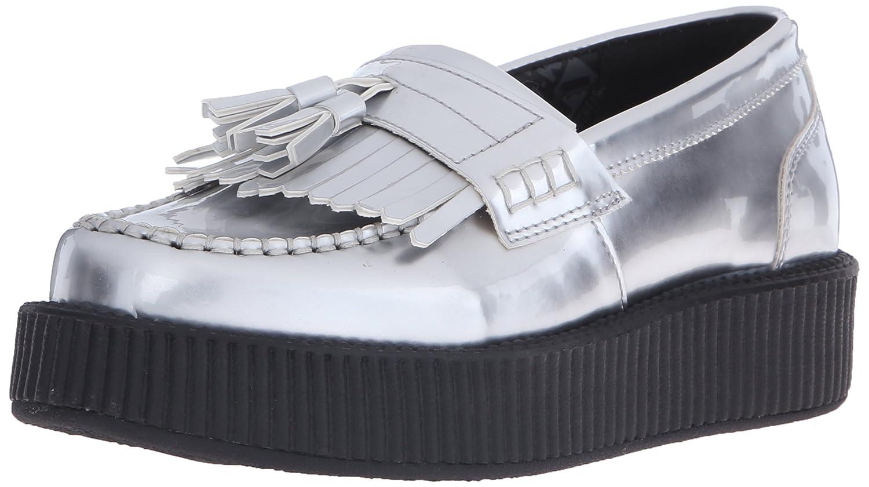 T.U.K. Shoes Women's Silver Patent Tassle Loafer EU36 / UKW3 Silver